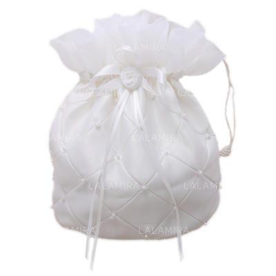 Bridal Purse Wedding/Ceremony & Party Satin Tether closure Lovely Clutches & Evening Bags (012184177)
