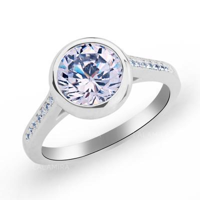 Rings Copper/Zircon/Platinum Plated Ladies' Classic Wedding & Party Jewelry (011165419)