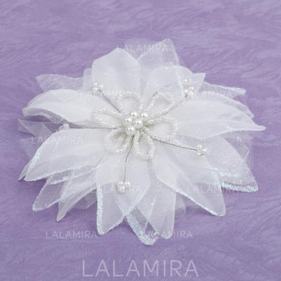 "Flowers & Feathers Wedding/Special Occasion Artificial Silk 1.97""(Approx.5cm) 3.94""(Approx.10cm) Headpieces (042153223)"