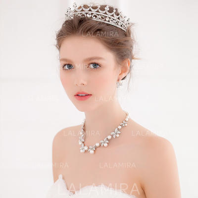 "Tiaras Wedding/Special Occasion/Party Alloy 6.69""(Approx.17cm) 4.72""(Approx.12cm) Headpieces (042156970)"