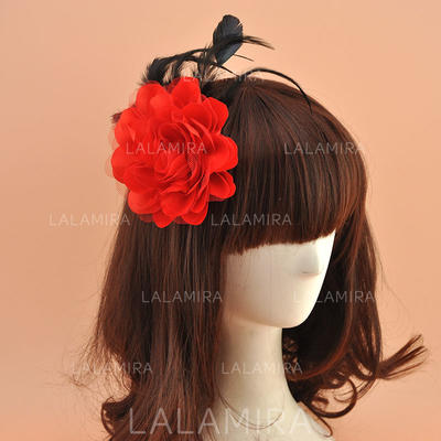 Organza With Silk Flower Fascinators Vintage Ladies' Hats (196195070)