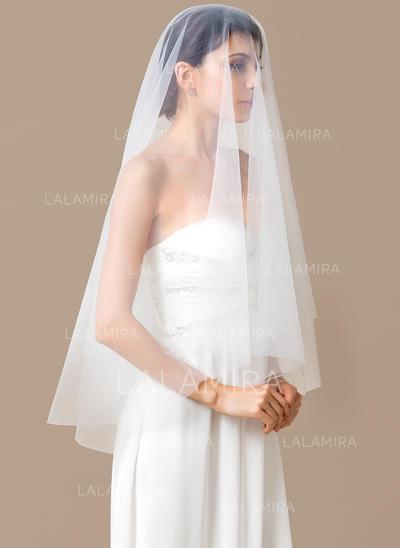 Velos de novia vals Tul Uno capa Óvalo con Corte de borde Velos de novia (006066075)