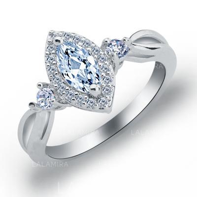 Rings Copper/Zircon/Platinum Plated Ladies' Exquisite Wedding & Party Jewelry (011165394)