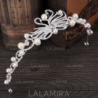 "Tiaras Wedding/Special Occasion/Party/Carnival Imitation Pearls 7.87""(Approx.20cm) 1.57""(Approx.4cm) Headpieces (042159150)"