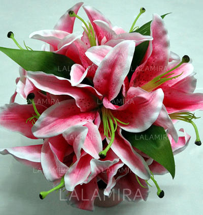 "Bridesmaid Bouquets Round Wedding Satin 8.66""(Approx.22cm) Wedding Flowers (123188267)"