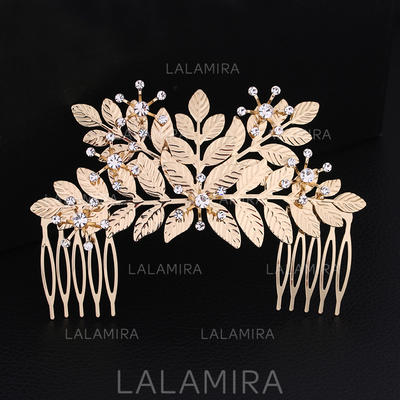 """Combs & Barrettes Wedding/Special Occasion Rhinestone/Alloy 4.53""""(Approx.11.5cm) 3.07""""(Approx.7.8cm) Headpieces (042158787)"""