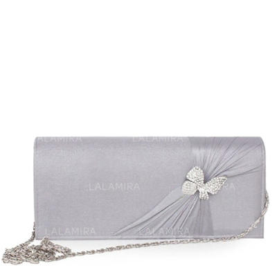 Clutches Wedding/Ceremony & Party Silk Magnetic Closure Fashional Clutches & Evening Bags (012183981)