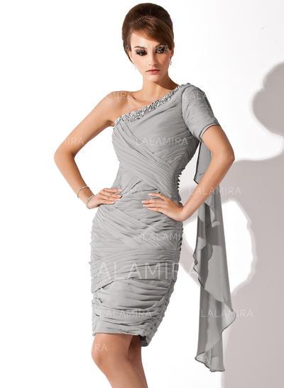 Sheath Column Chiffon Dress