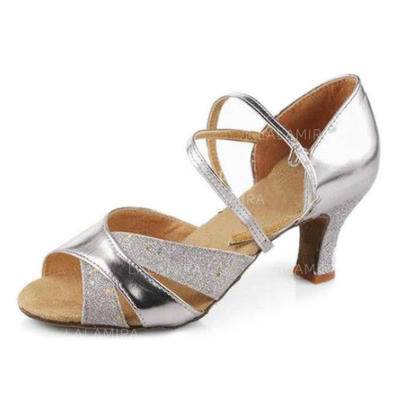 Women's Latin Heels Sandals Leatherette Dance Shoes (053175909)