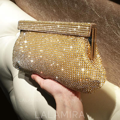 """Clutches/Satchel Ceremony & Party Crystal/ Rhinestone Shining 10.24""""(Approx.26cm) Clutches & Evening Bags (012187295)"""