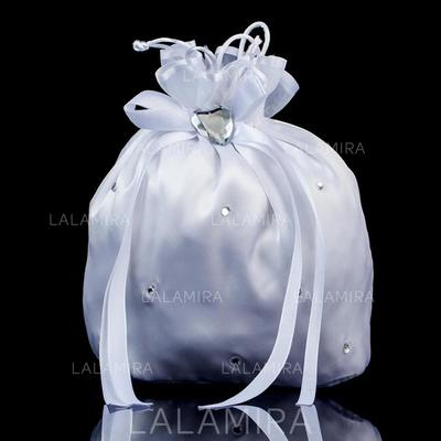 Bridal Purse Wedding/Ceremony & Party Satin/Crystal/ Rhinestone Tether closure Charming Clutches & Evening Bags (012186063)