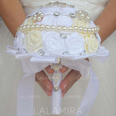 "Bridal Bouquets/Bridesmaid Bouquets Round Wedding/Party Satin 6.69""(Approx.17cm) Wedding Flowers (123190402)"