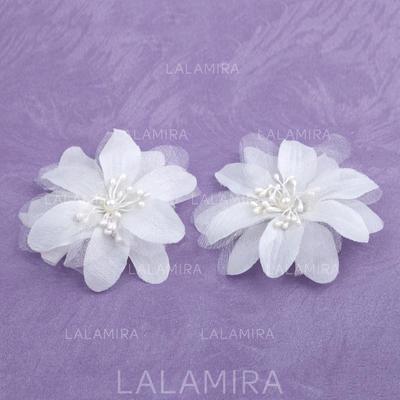 """Flores y plumas Boda/Ocasiones especiales Satén 1.97""""(Aprox.5cm) 0.78""""(Aprox.2cm) Cintillos (042026364)"""