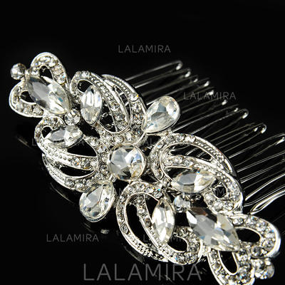 """Combs & Barrettes Wedding/Special Occasion/Casual/Outdoor/Party Rhinestone/Alloy 3.54""""(Approx.9cm) 1.97""""(Approx.5cm) Headpieces (042157238)"""