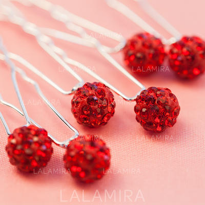 """Hairpins Wedding/Party Rhinestone/Alloy 0.39""""(Approx.1cm) 2.56""""(Approx.6.5cm) Headpieces (042155162)"""