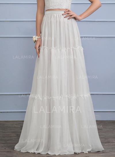 Separates Floor-Length Chiffon Wedding Skirt (002110495)