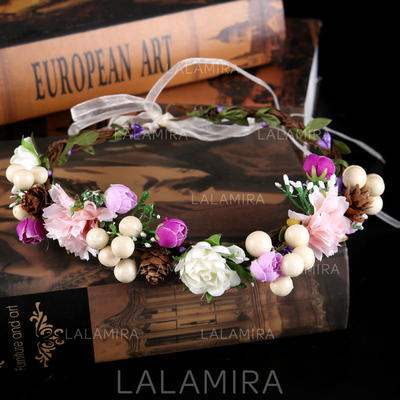 "Headbands Wedding/Special Occasion Silk Flower 19.7""(Approx.50cm) 1.97""(Approx.5cm) Headpieces (042159366)"