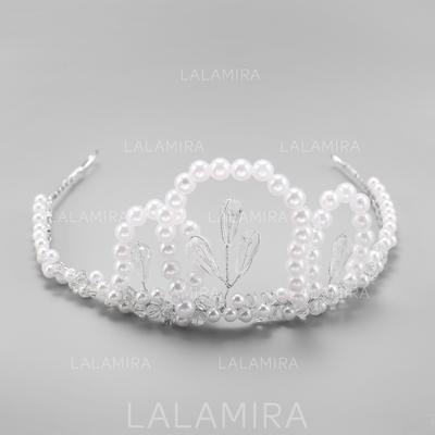 "Tiaras Wedding Alloy/Imitation Pearls 13.58""(Approx.34.5cm) 2.76""(Approx.7cm) Headpieces (042156741)"