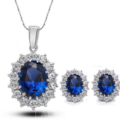 Jewelry Sets Alloy/Rhinestones Lobster Clasp Pierced Ladies' Wedding & Party Jewelry (011168049)