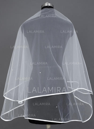 Waltz Bridal Veils Tulle One-tier Classic With Ribbon Edge Wedding Veils (006151573)