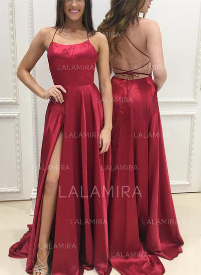 Charmeuse A-Line/Princess 2019 New Evening Dresses Sleeveless (017146410)