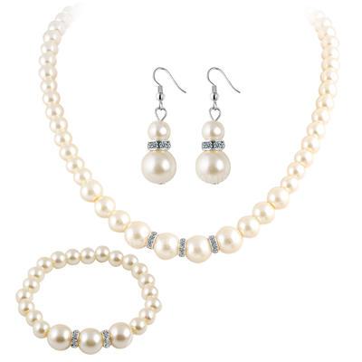 Jewelry Sets Imitation Pearls Pierced Ladies' Classic Wedding & Party Jewelry (011168057)