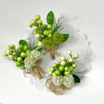 Söpö Keinotekoinen silkki Kukka setit (sarja 2) - Ranne kukkakimppu/Boutonniere (123106395)