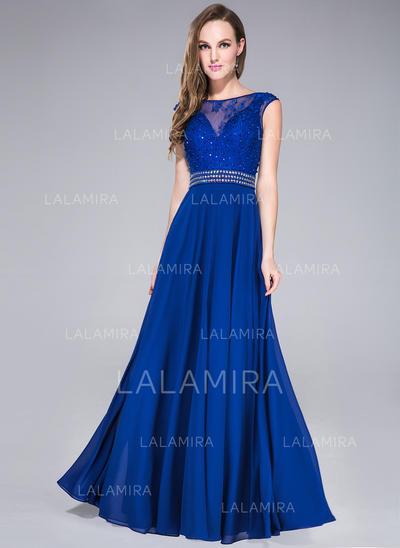 Sleeveless Floor-Length - A-Line/Princess Prom Dresses