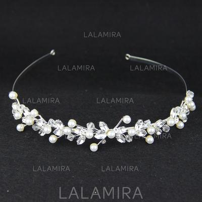"""Tiaras Wedding/Special Occasion/Casual Crystal/Alloy/Imitation Pearls 5.91""""(Approx.15cm) 1.18""""(Approx.3cm) Headpieces (042155872)"""