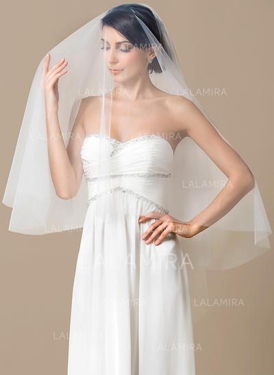 Waltz Bridal Veils Tulle One-tier With Cut Edge 59.06 in (150cm) Wedding Veils (006151808)