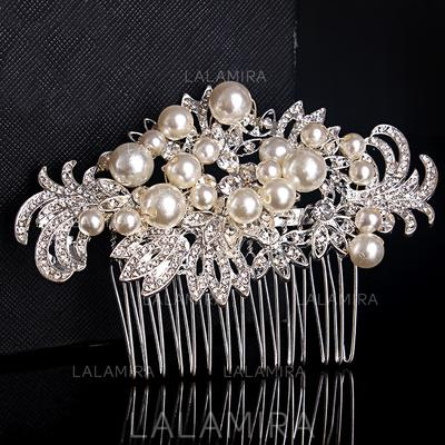 Combs & Barrettes Wedding/Special Occasion/Party/Carnival Rhinestone/Alloy Glamourous Ladies Headpieces (042158265)