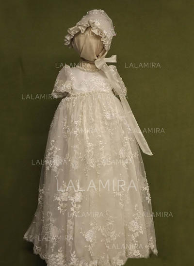 ac433a53a Lace Scoop Neck Beading Baby Girl's Christening Gowns With 1/2 Sleeves  (2001217396)
