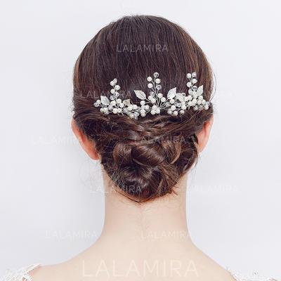 """Hairpins Wedding/Casual/Party Crystal/Freshwater Pearl 4.13""""(Approx.10.5cm) 3.35""""(Approx.8.5cm) Headpieces (042159263)"""