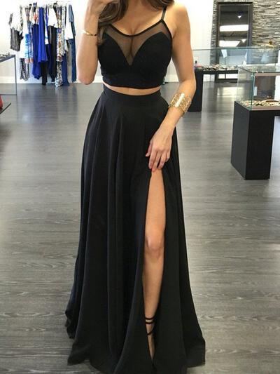 Floor-Length Ruffle Chiffon A-Line/Princess Evening Dresses (017216486)