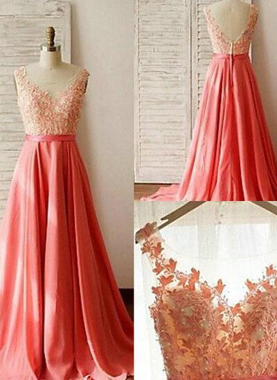 2019 New A-Line/Princess Regular Straps Chiffon Lace Bridesmaid Dresses (007144953)