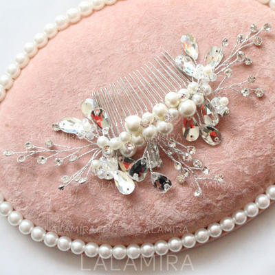 """Combs & Barrettes Wedding/Special Occasion/Party Alloy/Imitation Pearls 7.68""""(Approx.19.5cm) 3.54""""(Approx.9cm) Headpieces (042157726)"""