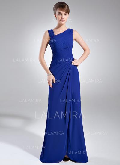 Princesa Escote en V Vestido tubo Gasa Vestidos de madrina (008211238)