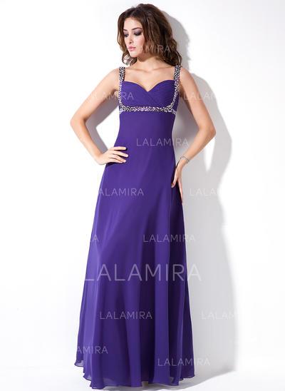 Chiffon Sweetheart Empire Sleeveless Delicate Evening Dresses (017020671)