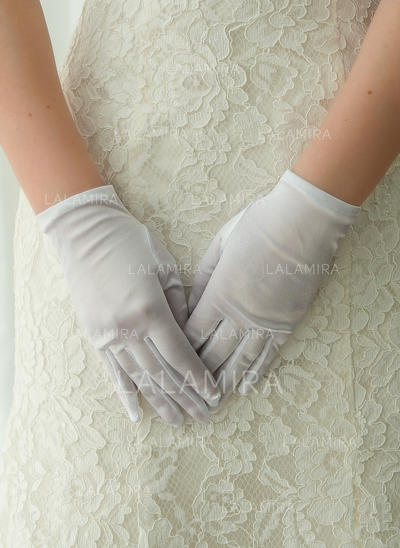 Satin Ladies' Gloves Wrist Length Bridal Gloves Fingertips Gloves (014192211)