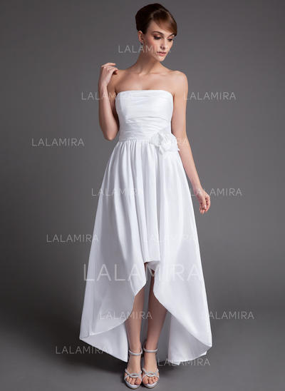 Sleeveless General Plus Strapless With Taffeta Wedding Dresses (002025837)