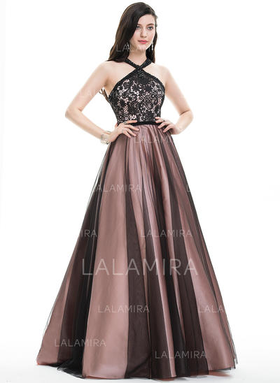 Luxurious With Ball-Gown Tulle Prom Dresses (018105697)