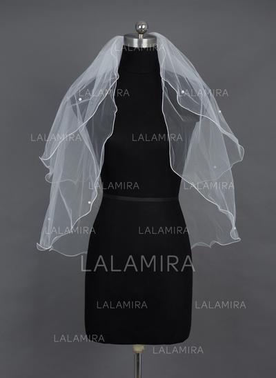 Codo velos nupciales Tul Dos capas Estilo clásico con Recortada Velos de novia (006037910)