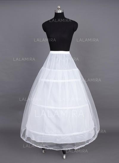 Petticoats Floor-length Nylon/Tulle Netting Full Gown Slip 2 Tiers Petticoats (037190687)