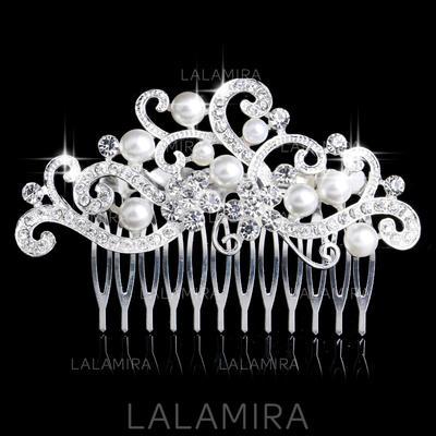 Luminoso Aleación/Perlas de imitación Peines y pasador (042075058)