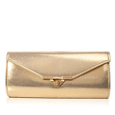 Clutches Wedding/Ceremony & Party PU Twist-lock closure Classical Clutches & Evening Bags (012186073)