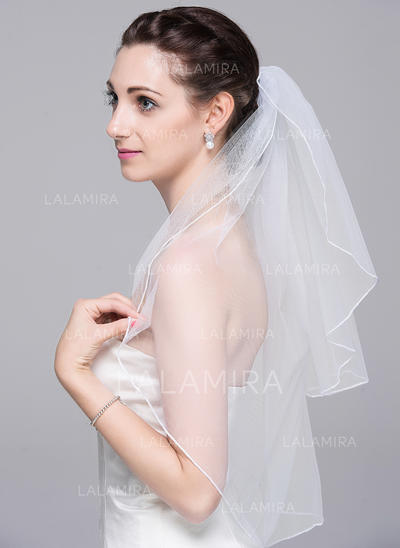 Elbow Bridal Veils Tulle Two-tier With Pencil Edge 31.50 in (80cm) Wedding Veils (006151844)