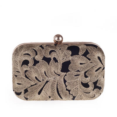 Clutches Ceremony & Party Alloy Snap Closure Elegant Clutches & Evening Bags (012188152)