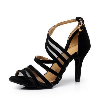 Women's Latin Heels Sandals Pumps Suede Dance Shoes (053179217)