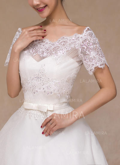Wrap Wedding Lace Short Sleeve Other Colors Wraps (013149730)
