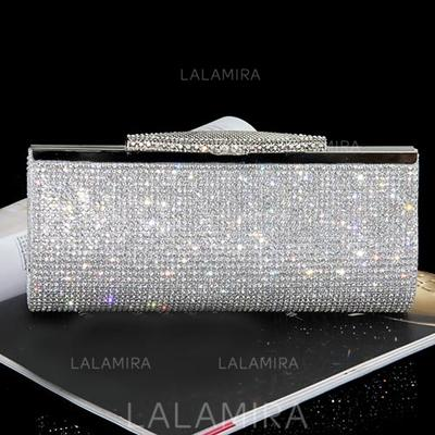 Clutches/Fashion Handbags Casual & Shopping/Office & Career Crystal/ Rhinestone Clip Closure Shining Clutches & Evening Bags (012186452)